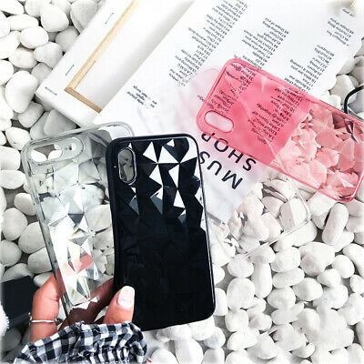 Luxury Crystal 3D Diamond Clear Case For iPhone Soft TPU Phone Cover ~ JF