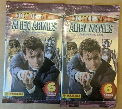 2 Sealed Packs of Panini Doctor Who Alien Armies Trading Cards Free UK Postage