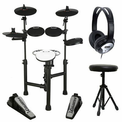 Carlsbro CSD120 Electronic Drum Kit with Headphones, Stool and Drumsticks