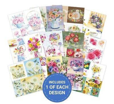 "Hunkydory Picture Perfect Beautiful Blooms 8"" x 8""  Paper Sample Pack 12 Sheets"