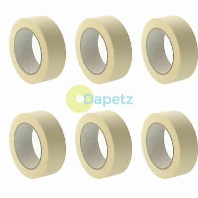 6x Masking Tape Paint Decorate Craft Low Tack Multi-purpose DIY 25mm x 50m Roll