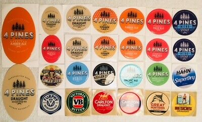CUB Tap Beer Decals Acrylic Stickers Mancave Top VB Great Northern Reschs Furphy