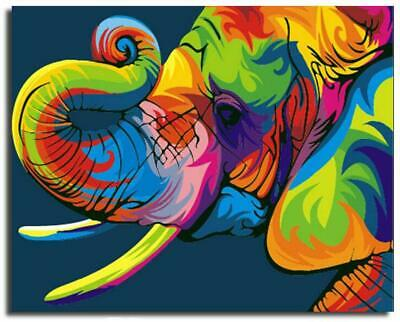 Paint By Numbers Kit - Adults / Beginners - Elephant - 20in x 16in