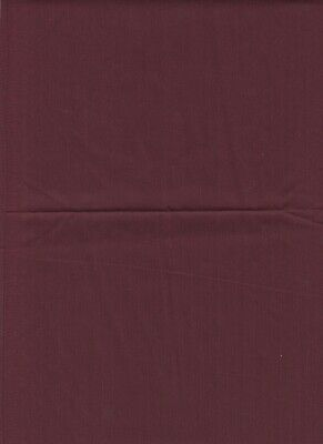 1 1/4 yd Burgundy Cotton Polyester Broadcloth Fabric