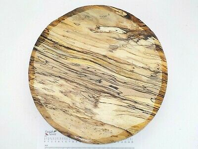 Huge English Spalted Beech woodturning or carving bowl blank.  380 x 68mm. 3980A