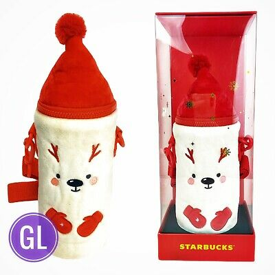 Starbucks Tumbler 2019 China Merry Christmas Thermos 13oz Cup Deer Cover Set