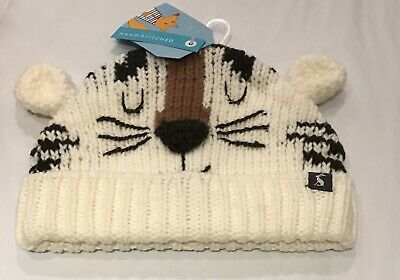Baby Joules age 6-12 Months Hat Baby Chum Tiger Motif  NEW RRP £14.95