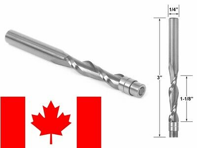 Bosch 85906M Solid Carbide 1//2-Inch x 1-1//4-Inch Down Spiral Double Flute 1//2-Inch Shank Router Bit