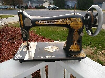 Antique 1901 Singer Model 27 Treadle Sphinx Sewing Machine head