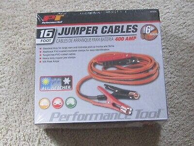Jumper Cables-16 foot-Performace Tool-new-sealed-400 AMP-6 gauge-W1672