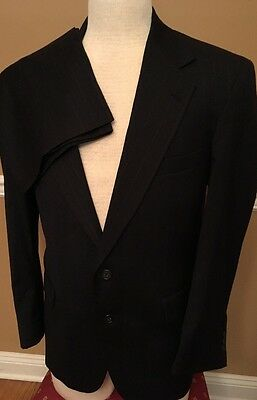 FABULOUS! Botany 500 COUTURE Navy Blue pinstripe Suit 42R