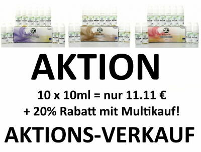 AKTION SC Liquid 10x 10ml Set Frucht Gourmet Tabak E-Zigaretten Box Paket AKTION