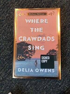 Where the Crawdads Sing Deluxe Edition Delia Owens Signed Autographed Hardcover
