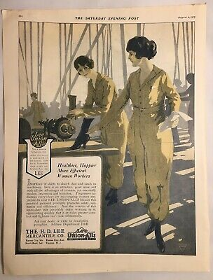 1919  H.D. Mercantile Lee Union-Alls  Workwear For Women ad 10 1/2 X 14