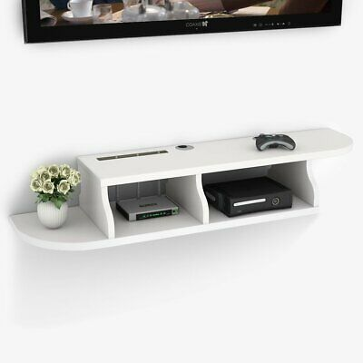 Modern 2 Tier Wall Mount Floating Shelf Tv Console For Cable Boxes Dvd Players 25 99 Picclick Uk