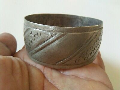 Extremely Rare Old Antique Bracelet Viking Metal Color Silver Artifact