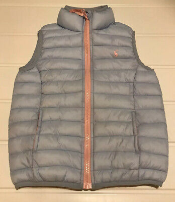 Joules Girls Age 4 Years Gilet Body Warmer Zip Up Soft Quilted Excellent Cond