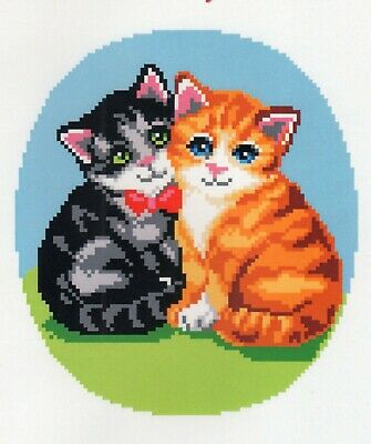 Latch Hook RUG CHART and CANVAS BLANK for TWO KITTENS RUG,  BRAND NEW NOT ex KIT