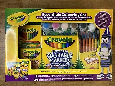 Crayola Essentials Colouring Set Art and Craft Crayons Markers Coloured Pencils