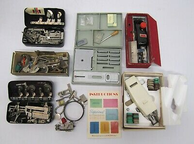 Vtg Assorted Lot Sewing Machine Parts Accessories Attachments Singer Sears Toof