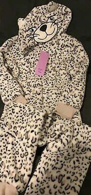 Girls Leopard Print All In One Suit Age 5-6 Years Brand New