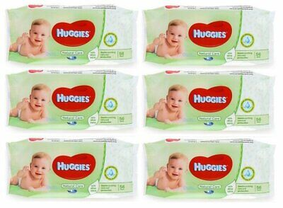 HUGGIES BABY WIPES NATURAL CARE 56ct (6 PACK)