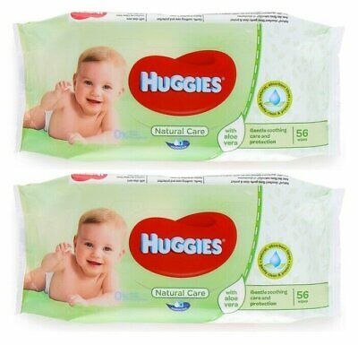 HUGGIES BABY WIPES NATURAL CARE 56ct (2 PACK)