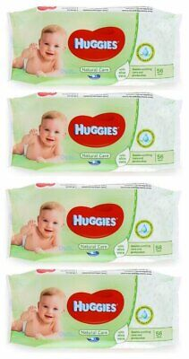 HUGGIES BABY WIPES NATURAL CARE 56ct (4 PACK)
