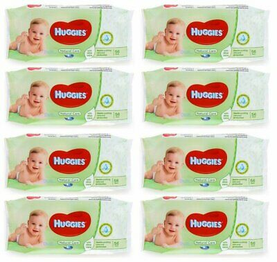 HUGGIES BABY WIPES NATURAL CARE 56ct (8 PACK)