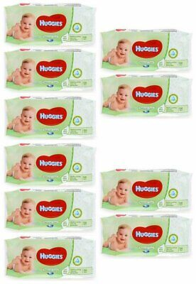 HUGGIES BABY WIPES NATURAL CARE 56ct (10 PACK)