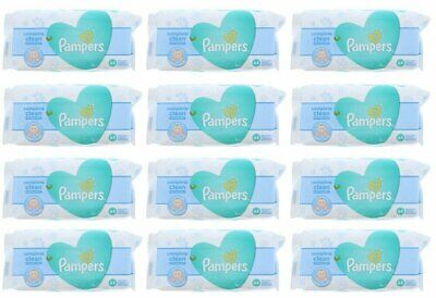 PAMPERS BABY WIPES FRESH CLEAN 64ct (12 PACK)