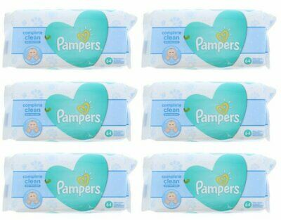 PAMPERS BABY WIPES FRESH CLEAN 64ct (6 PACK)
