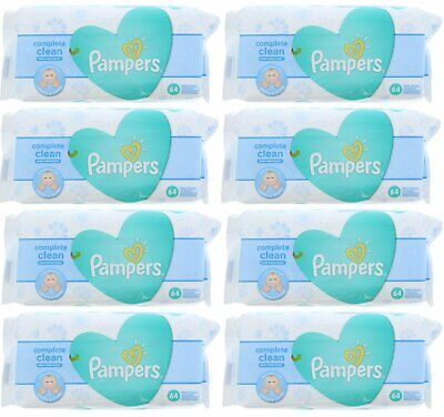 PAMPERS BABY WIPES FRESH CLEAN 64ct (8 PACK)
