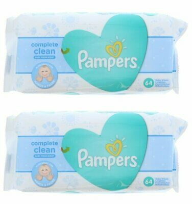 PAMPERS BABY WIPES FRESH CLEAN 64ct (2 PACK)