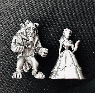 Miniature Solid Pewter Walt Disney BEAUTY and the BEAST Belle Metal Figurine #65