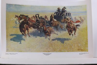 FREDERIC REMINGTON Western Horse Cowboy print ~ DOWNING THE NIGH LEADER