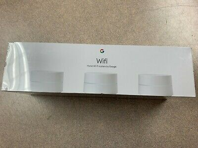 New in Box - Google Wifi AC1200 Dual-Band Mesh Wi-Fi System 3 Pack - White