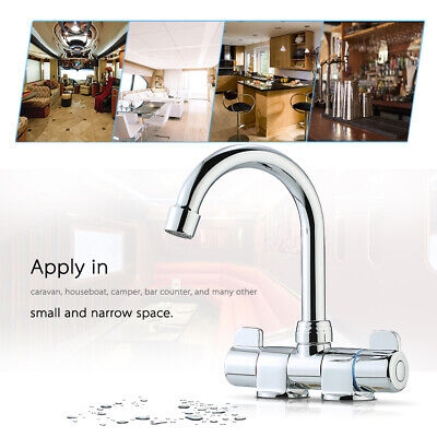 All-copper RV Faucets Rotating Faucet Hot & Cold Water Mixer Tap Durable U5O3