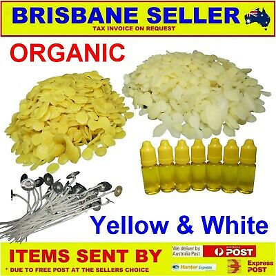 Beeswax Organic Yellow and Refined Unbleached White