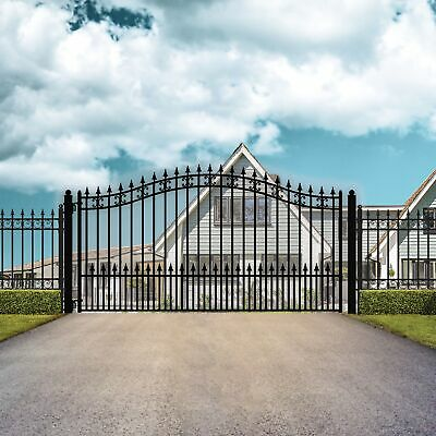ALEKO St Petersburg Style Ornamental Iron Wrought Single Swing 16' Driveway Gate