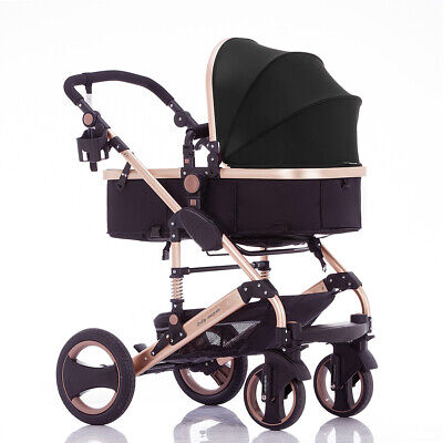 Luxury Recline Baby Infant Toddler Foldable Baby Stroller Prams Baby Lightweight