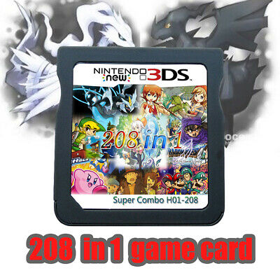 NEW 208 In 1 Games Game Multi Cartridge For Nintendo DS NDS NDSL NDSi 3DS US