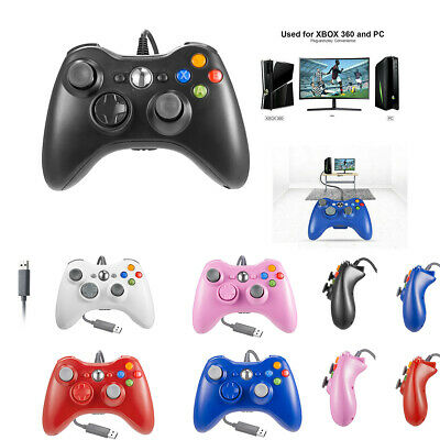 Wired Game USB Controller Gamepad Joystick for Microsoft Xbox 360 &PC Windows