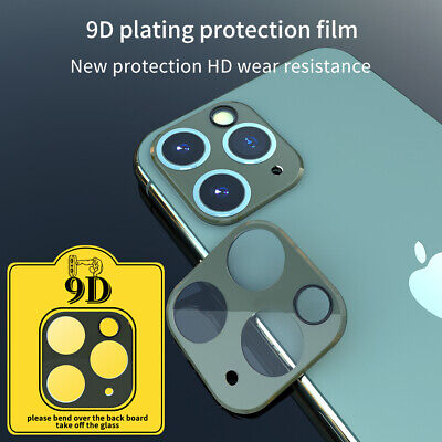 3Pcs Plating 9D Camera Case Tempered Glass Protector Film For iPhone 11 Pro Max