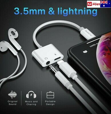 Apple lightning to 3.5mm AUX Headphone Jack Adapter Cable Audio iphone splitter