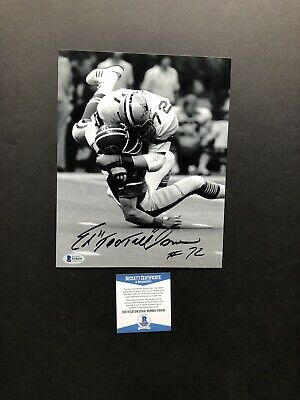 Ed Too Tall Jones autographed signed 8x10 photo Beckett BAS COA Dallas Cowboys