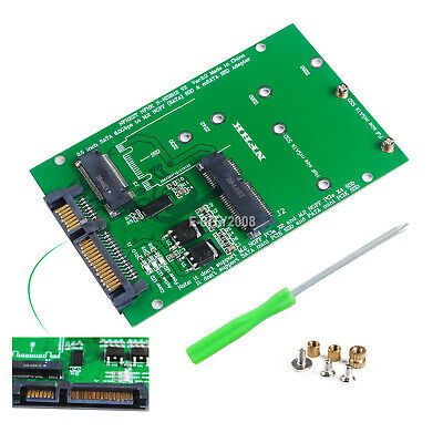 2 in 1 Combo Mini PCI-E 2 Lane M.2 NGFF & mSATA SSD to SATA 3.0 III Adapter PCBA