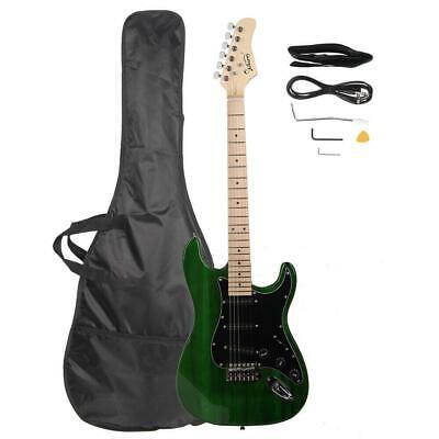 New Glarry ST 22 Frets Burning Fire Basswood Electric Guitar Kit W/Bag Green