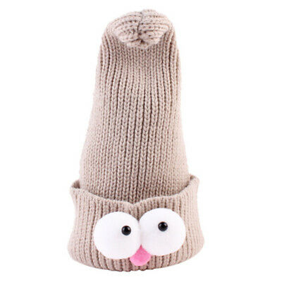 Big Eyes Ball Knitted Baby Kid Caps Toddler Crochet Beanie Child Winter Hat N7