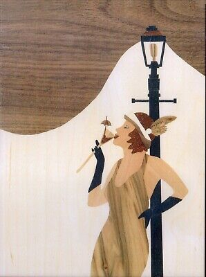 Anna Marquetry Kit, Art Deco Cocktail Girl Picture Craft Kit